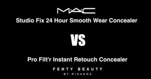 Pamela Segura probando MAC Studio Fix Concealer Vs. Fenty Beauty Filtr Retouch Concealer